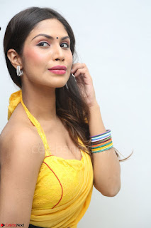 Nishigandha in Yellow backless Strapless Choli and Half Saree Spicy Pics 090.JPG