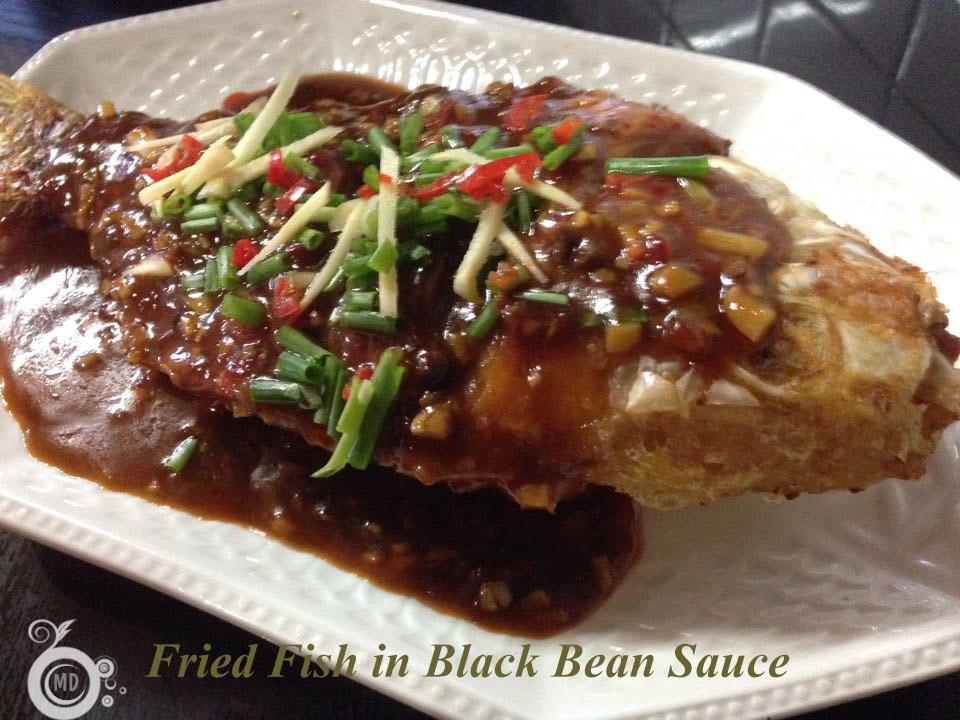 Fried fish in black bean sauce for Fish in black bean sauce