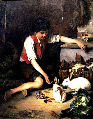 child-sitting-with-rabbits