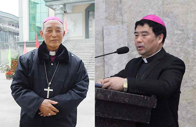 Bispos Peter Zhuang Jianjian de Shantou e Guo Xijin de Mindong