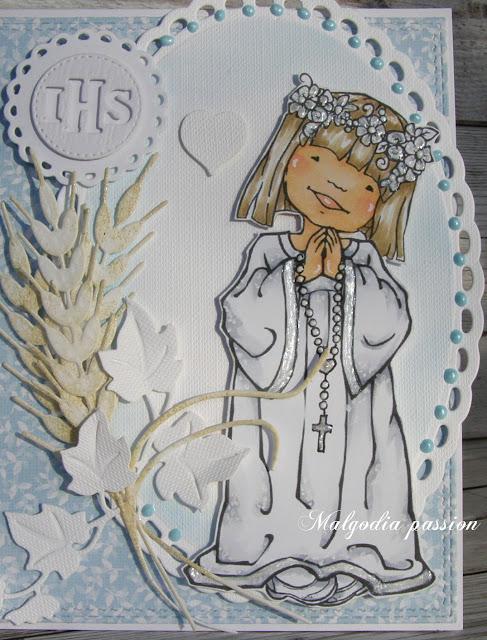 Komunijna dziewczynka i aniołek  na Chrzest