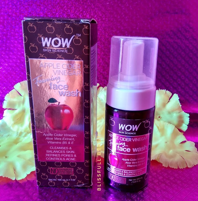 Wow Skin Science Apple Cider Vinegar Foaming Facewash Review