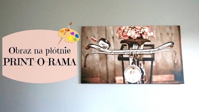 RECENZJA: Obraz na płótnie - rower z kwiatami w stylu retro | PRINT-O-RAMA