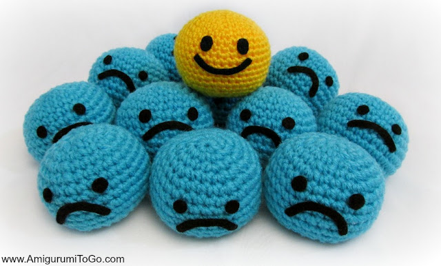 pile of crochet smile balls