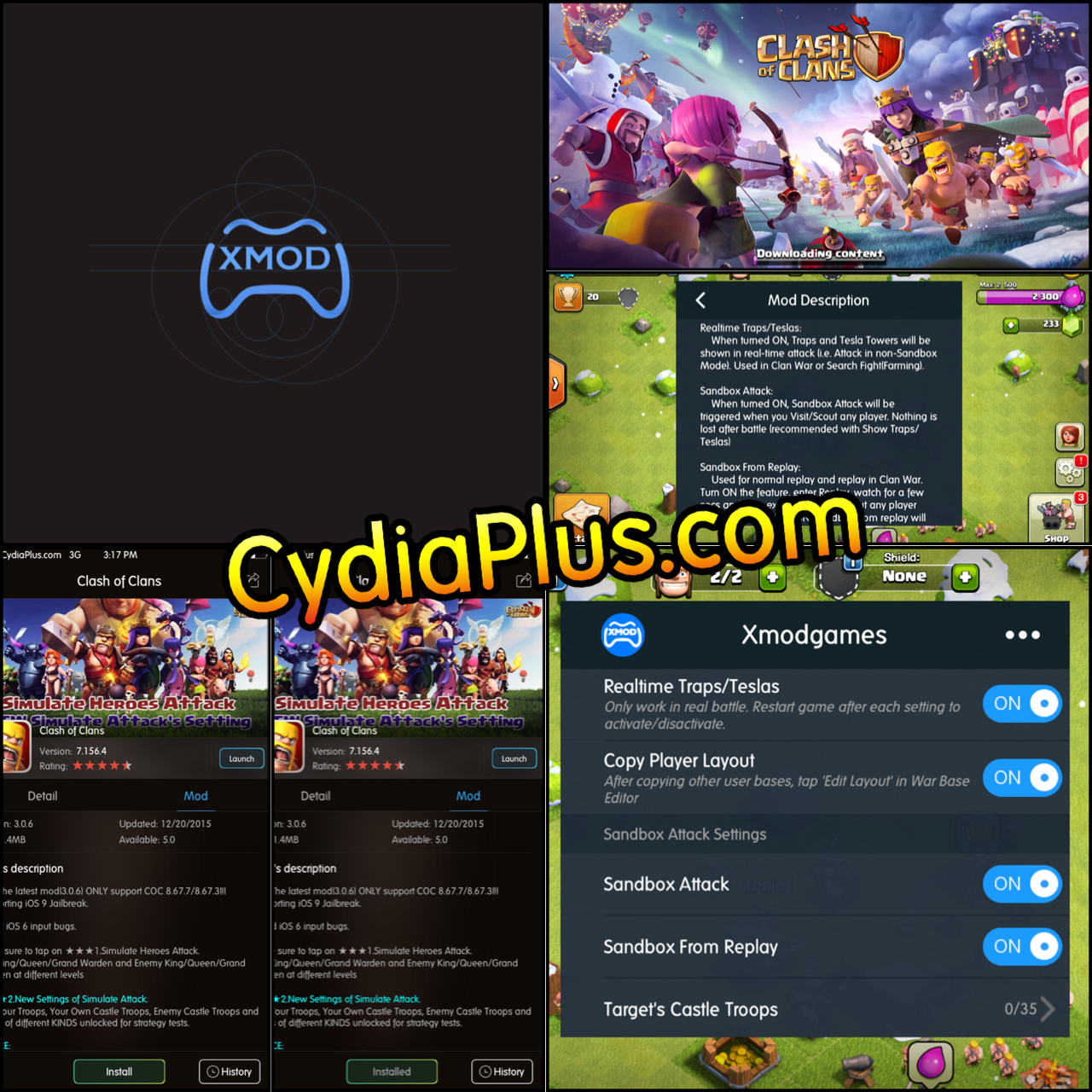 how to hack clash of clans android xmodgames