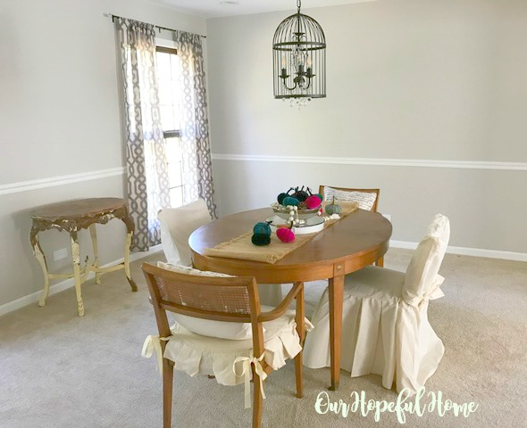farmhouse decor dining room renovation reveal