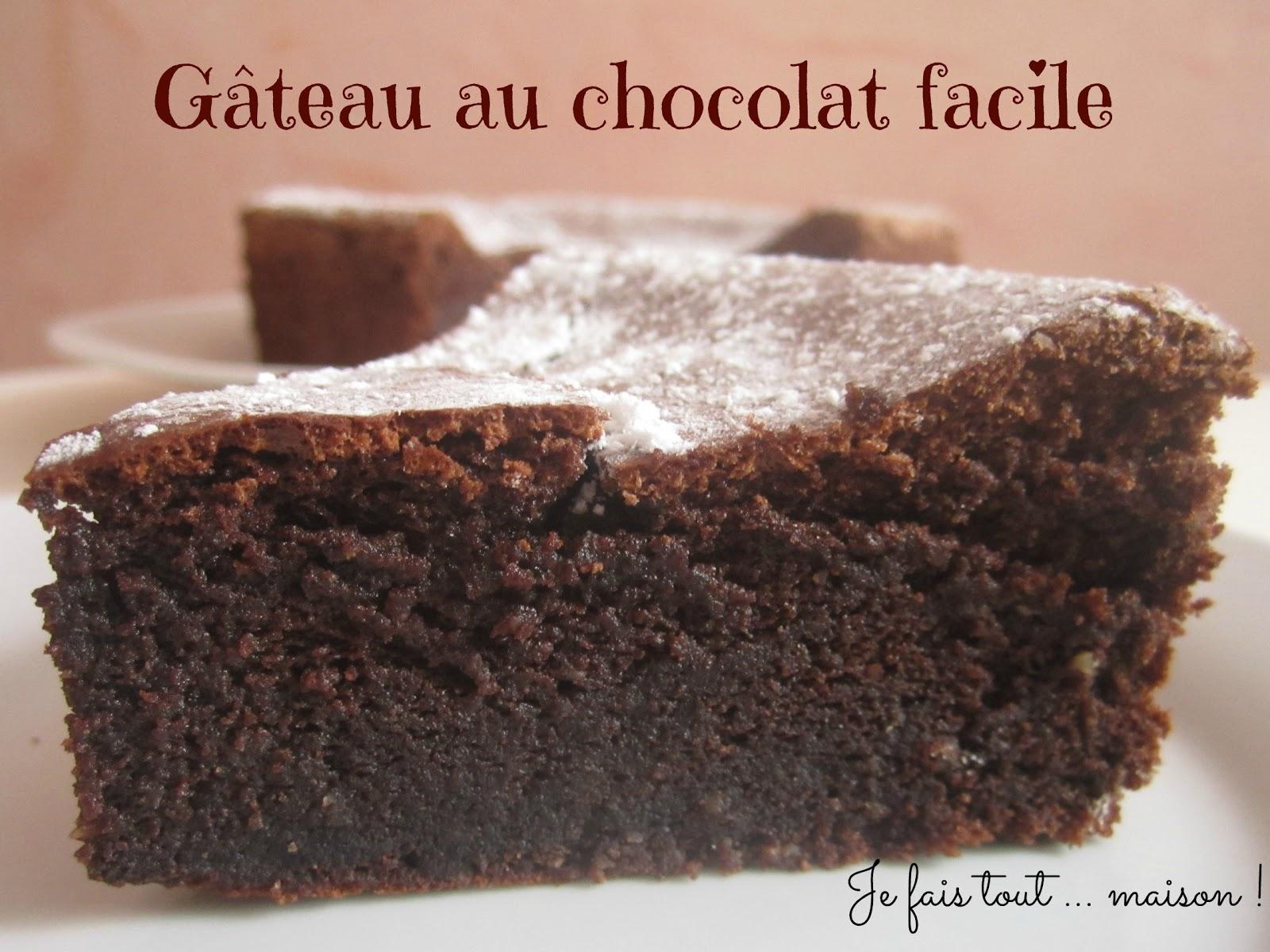Je fais tout maison g teau chocolat bellevue de christophe felder - Fondant au chocolat en poudre ...
