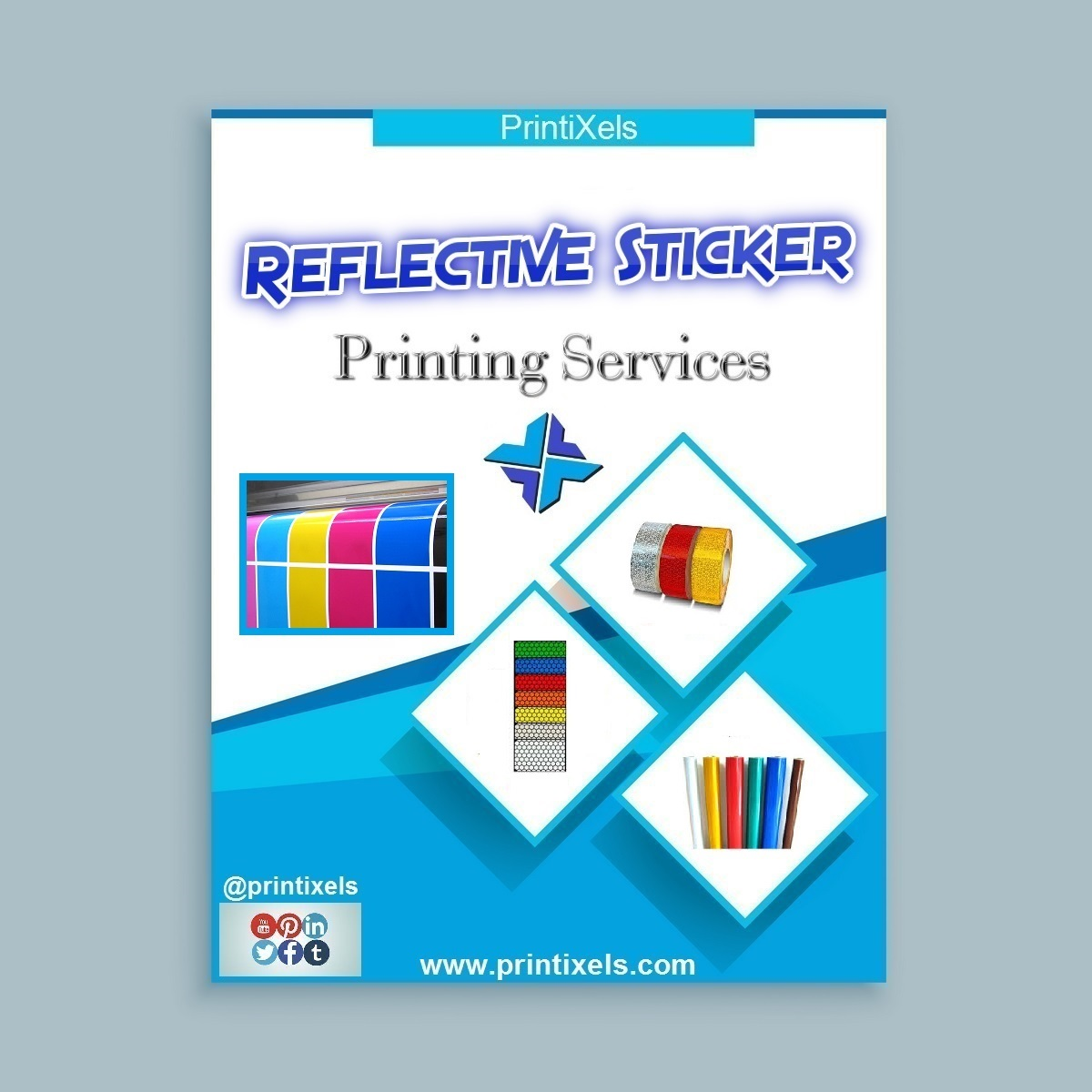 Reflective sticker printing services printixels philippines