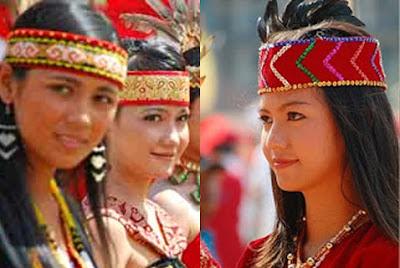 sejarah dan budaya kecantikan gadis suku dayak kalimantan