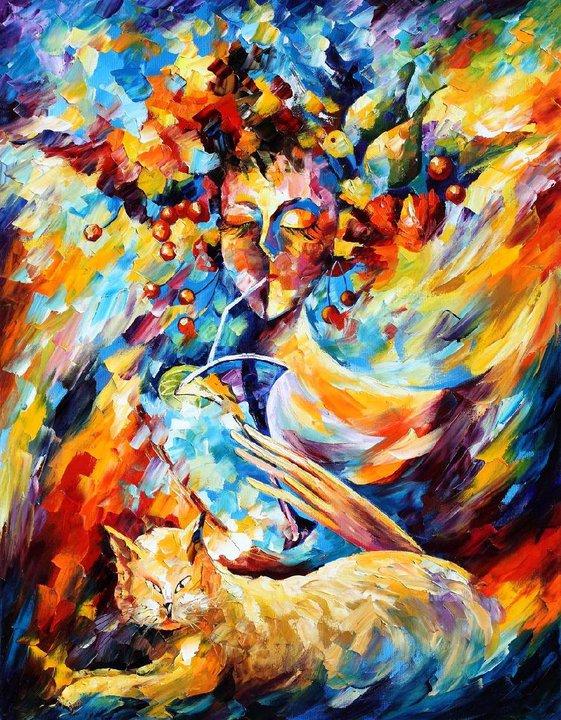 Красками абстракция