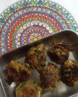 Pan fried Indian Styled Aloo Peas Patties