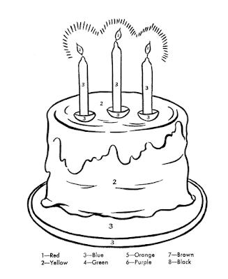 Gambar Mewarnai Kue Ulang Tahun - 7