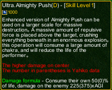 naruto castle defense 6.5 Ultra Almighty Push detail