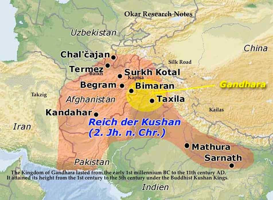 Okar Research Kingdom Of Gandhara 1st 5th C Ad