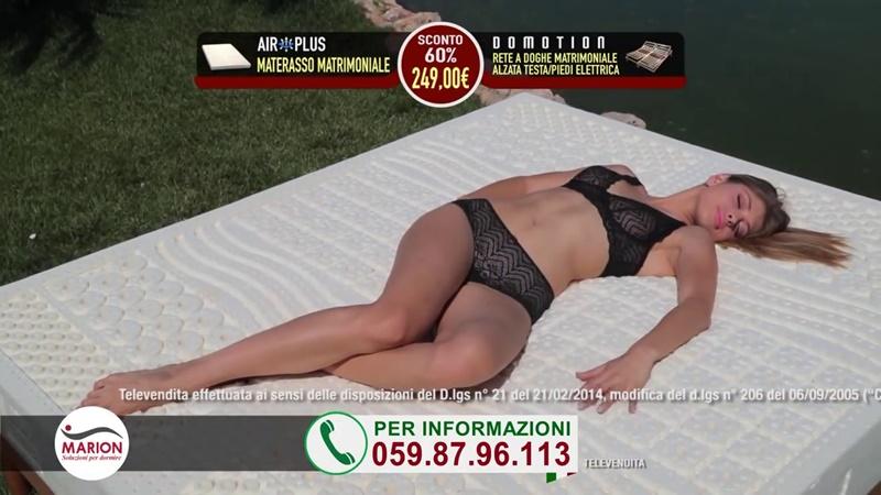 Le modelle della pubblicit reti e materassi Marion con