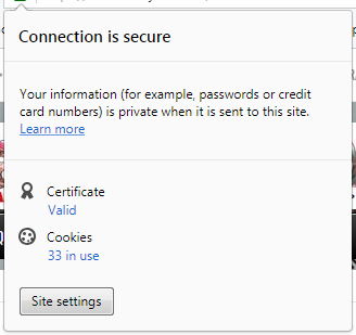 gambar connection is secure