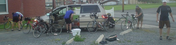 Pittsburgh to DC, GAP and C&O, support van
