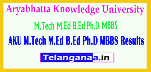 AKU Aryabhatta Knowledge University Results