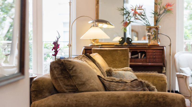 Dormire nelle case più belle di Londra: Victorian Garden salotto