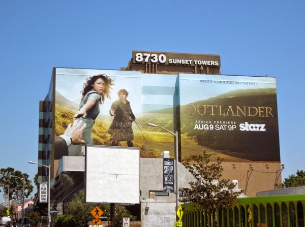Outlander series premiere Starz billboard