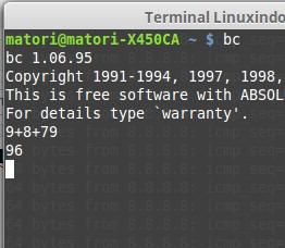 Linux : Cara Menampilkan Kalkulator