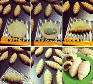 dolgulu kurabiyenin aşamaları
