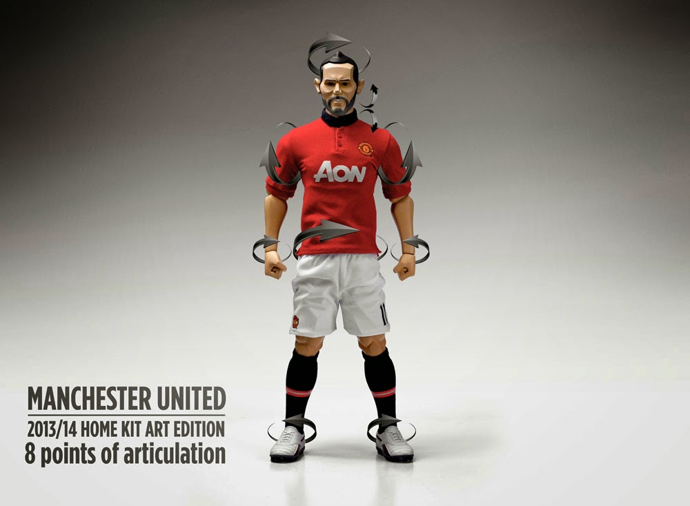 7 away jersey L44-04 1//6 scale action figure ZCWO Manchester united No