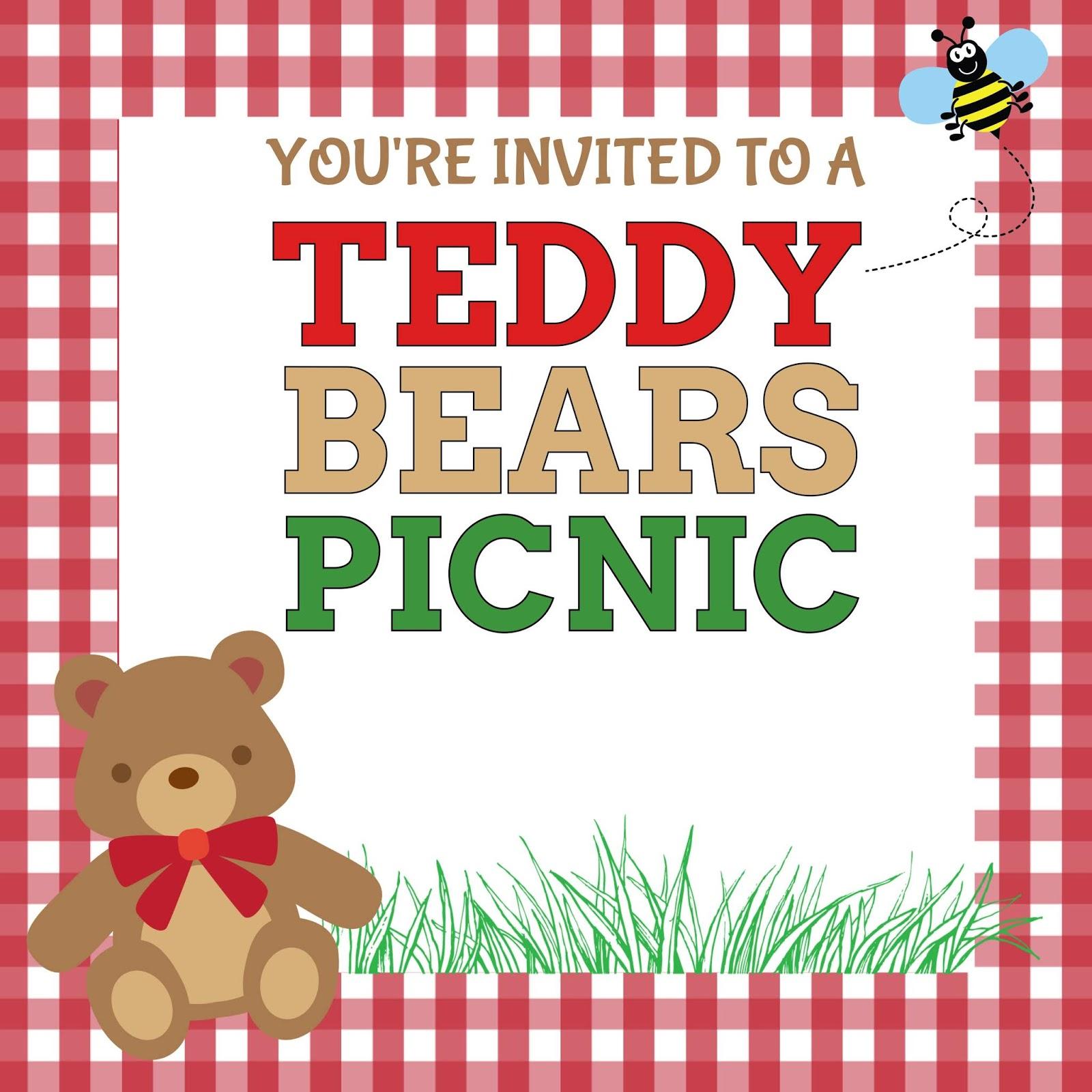 Teddy Bear S Picnic Invite Free Printable