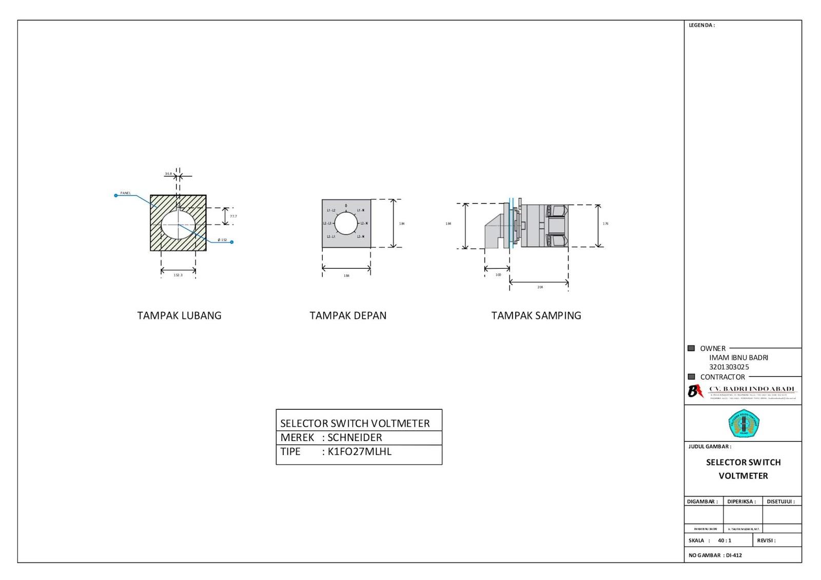 Gambar Selector Switch Voltmeter