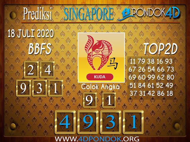 Prediksi Togel SINGAPORE PONDOK4D 18 JULI 2020