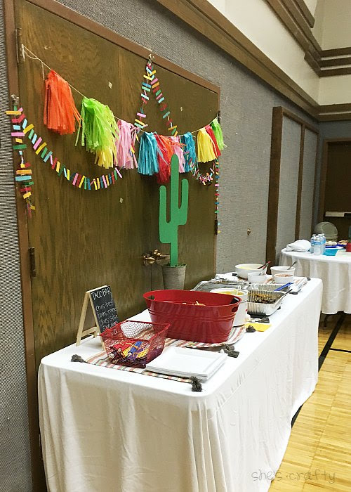 Taco Bar Relief Society Party Idea - Taco 'Bout Fun meet and greet party - tips for party to run smoothly
