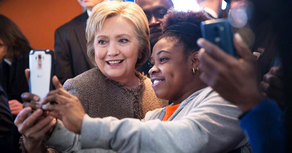 Hillary Clinton With Black Business Owners