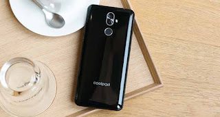 Coolpad Note 8 in black color from back side