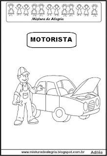 Desenho de motorista para colorir