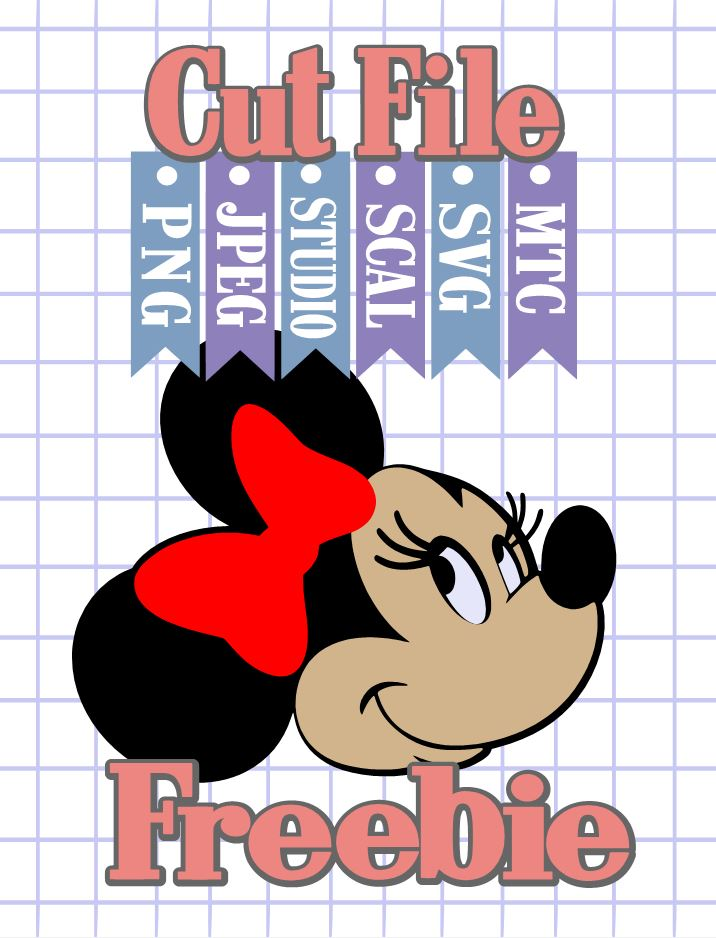 Download The Scrapoholic : Free MTC & SVG Cut Files! DiSNEY Minnie