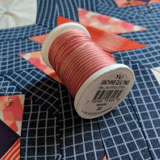 YLI machine quilting Mango thread