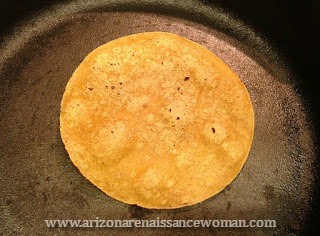 Corn Tortillas in a Cast Iron Skillet