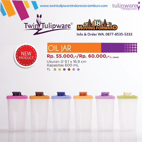 Oil Jar - Katalog 2018 Twin Tulipware