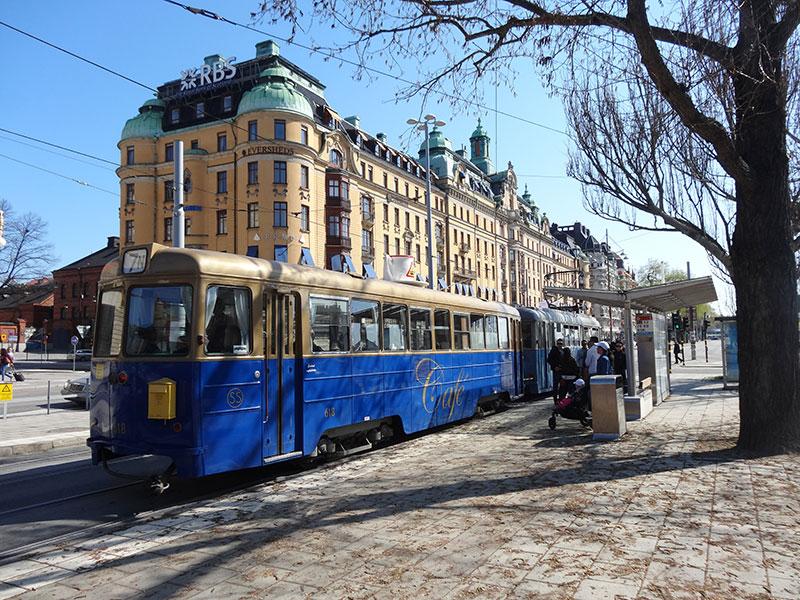 Blue-Old-Tram-STockholm