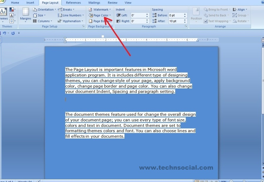 How To Change Text Background Color In Microsoft Word 2007