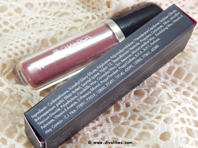 Chambor Extreme Wear Transferproof Liquid Lipstick 402 Ingredients