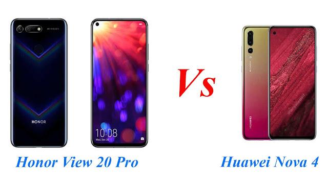Honor View 20 Pro vs Huawei Nova 4 :