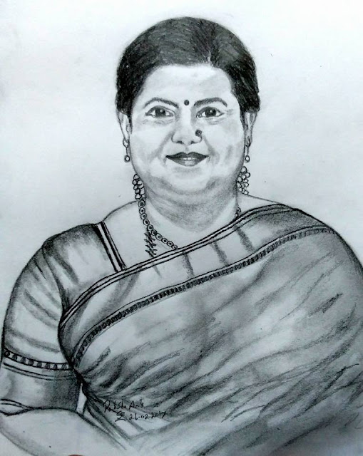 PENCIL DRAWING - ACTRESS KUTTY PADMINI