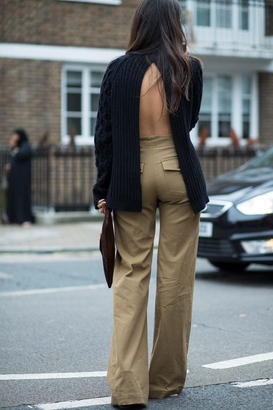 Update Your Sweater Collection With An Open-Back Style – Fall Outfit Inspiration