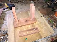 Top piece of cedar cut out