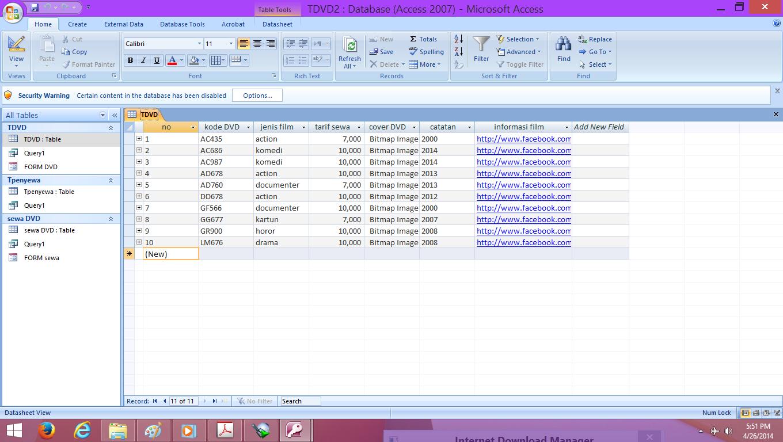 Contoh Database Menggunakan Ms Access - Contoh M