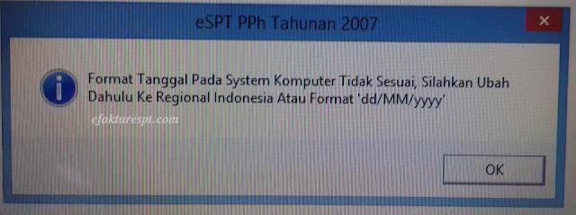 Format Tanggal Pada System Komputer Tidak Sesuai, Silahkan Ubah Dahulu Ke Regional Indonesia Atau Format dd/MM/yyyy