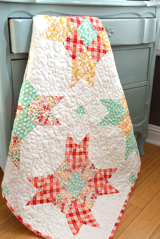 Five Fat Quarter Fun Quilt Free Pattern