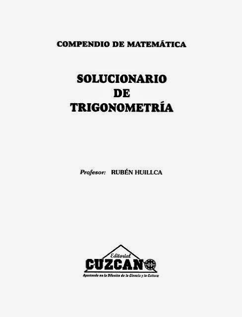 Solucionario Trigonometria Cuzcano ~ Libros gratuitos online