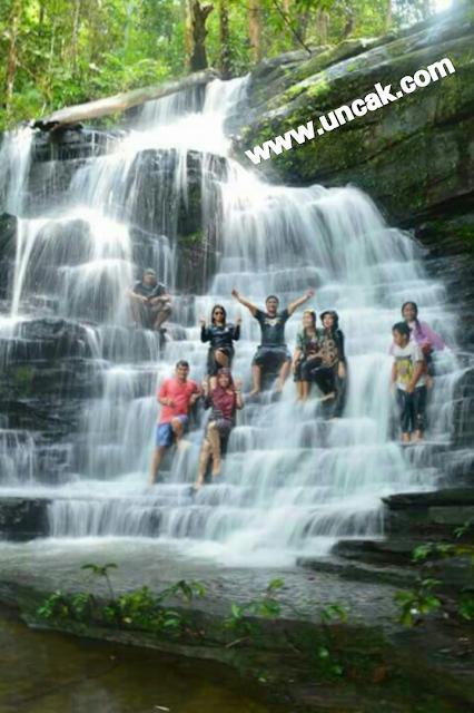 obyek wisata air Terjun Saray Brunyau Permai